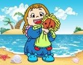 Bambina con la bambola