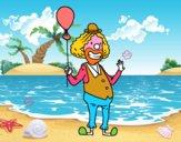 Clown e  palloncino