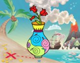 Fiore di convolvoli in un vaso