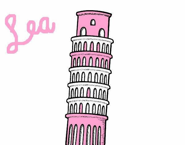 Disegno La Torre Di Pisa Colorato Da Utente Non Registrato