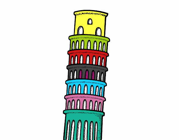 Disegno La Torre Pendente Di Pisa Colorato Da Utente Non