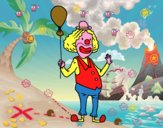 Clown e  palloncino