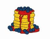 Disegno Pancakes pitturato su agnes