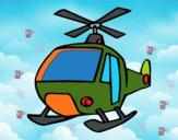 Disegno Un elicottero pitturato su GIOP