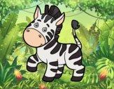 Una zebra africana