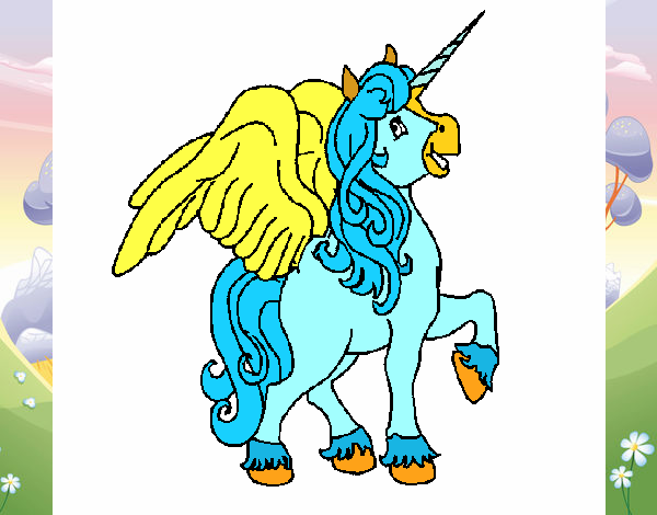 Disegno Unicorno Con Le Ali Colorato Da Utente Non Registrato Il 20