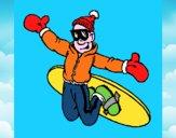 Salto con lo snowboard