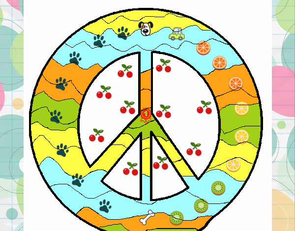 Disegno Simbolo Della Pace Colorato Da Utente Non Registrato Il 29