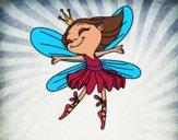 Disegno Fata con alas pitturato su OnlyZyra