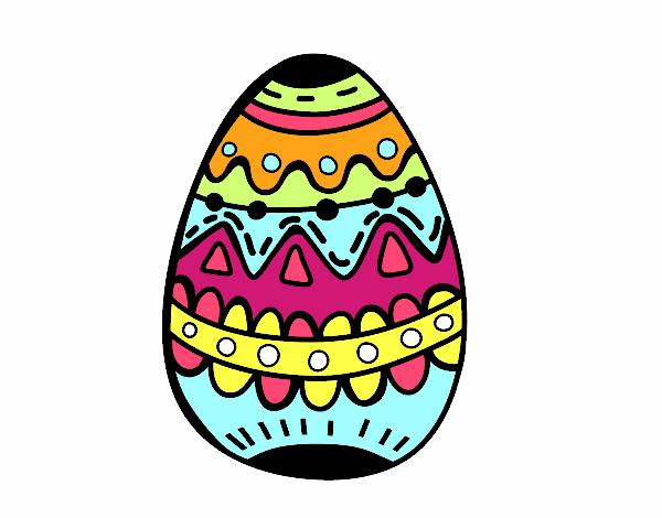 Il uovo di Pasqua decorato