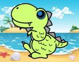 Stegosauro di profilo