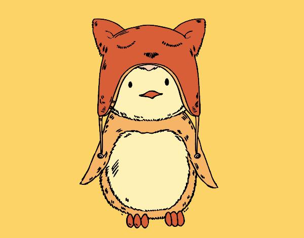 Disegno pinguino con il cappello divertente colorato da for Disegno pinguino colorato