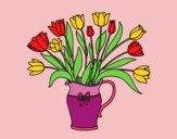 Vaso di tulipani