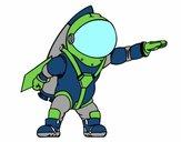 Astronauta con razzo
