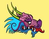 Drago rosso testa