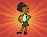 Una giocatrice di pallacanestro