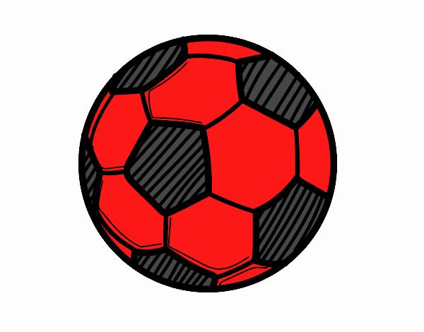 Disegno un pallone da calcio colorato da utente non - Pagina da colorare di un pallone da calcio ...