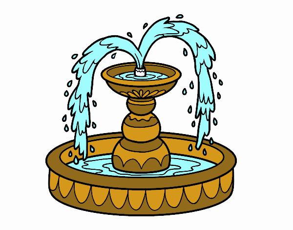 Disegno fontana colorato da utente non registrato il 19 di for Disegno giardino da colorare