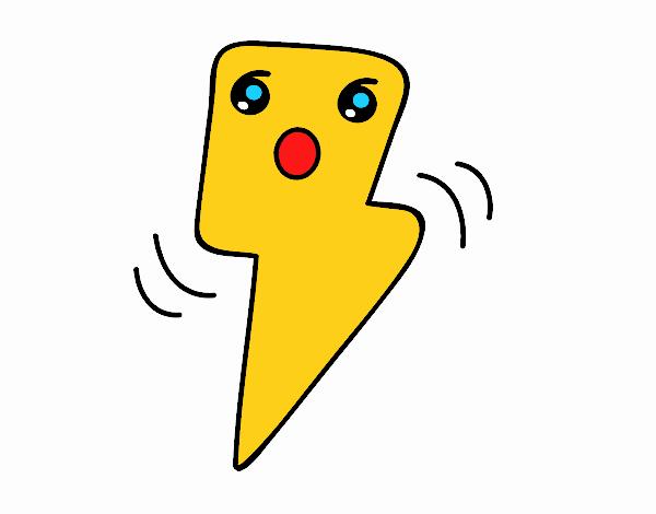 Disegno fulmini kawaii colorato da utente non registrato for Disegni facili kawaii