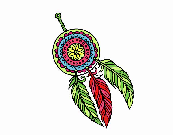 Disegno acchiappasogni indiano colorato da utente non for Acchiappasogni disegno