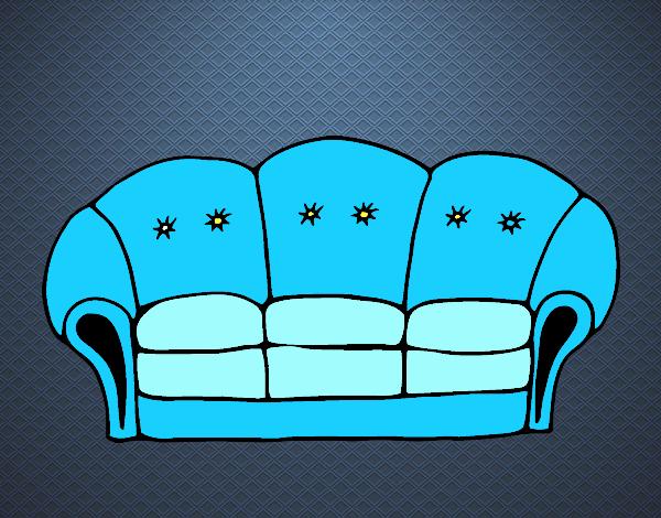 Disegno divano colorato da utente non registrato il 13 di for Divano disegno