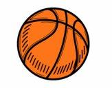 Disegno Il pallone da pallacanestro pitturato su amirotto
