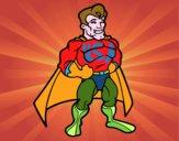 Muscoloso supereroe