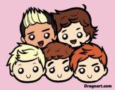 Disegno One Direction 2 pitturato su onedhugme