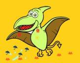 Disegno Pterosauro pitturato su amirotto