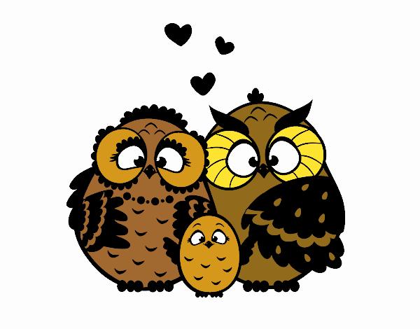 Famiglia gufo