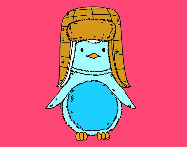 Pinguino con il cappello