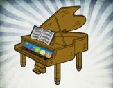 Un pianoforte a coda aperto