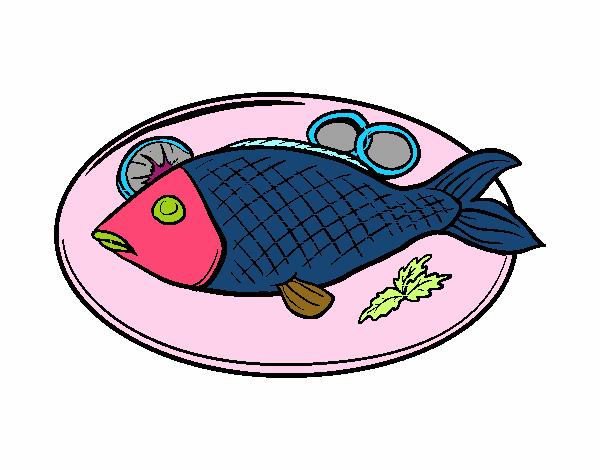 Disegno Piatto Di Pesce Colorato Da Utente Non Registrato Il 02 Di