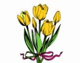 Tulipani con un fiocco