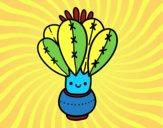 Un cactus con fiore
