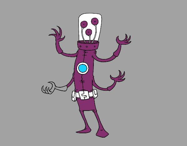 Alieno con quattro braccia