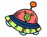 Extraterrestre in astronave
