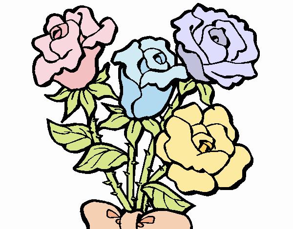 Disegno Mazzo Di Rose Colorato Da Utente Non Registrato Il 27 Di