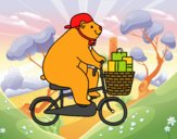 Orso ciclista