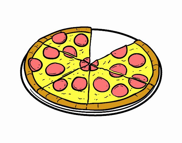 Disegno Pizza Colorato Da Utente Non Registrato Il 05 Di Agosto Del 2017