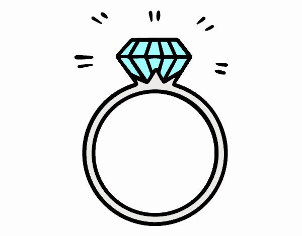 Un anello di fidanzamento