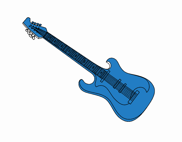 Una chitarra elettrica