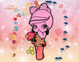 Bambina Kawaii con il gelato