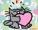 Gatto e cuore