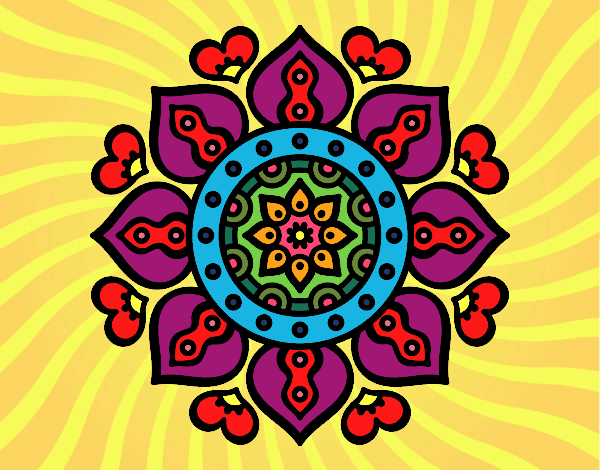 Mandala cuori arabi
