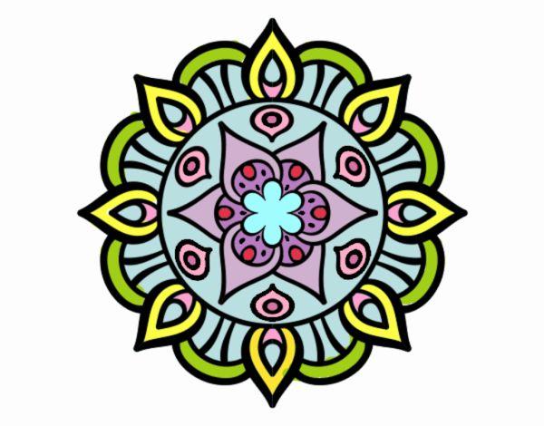 Disegno Mandala vita vegetale pitturato su Yurip