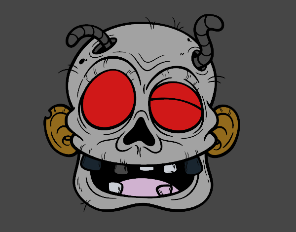 Zombie con il vermiciattoli
