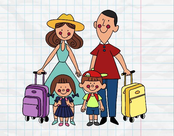 Disegno una famiglia in vacanza colorato da utente non for Vacanze in famiglia