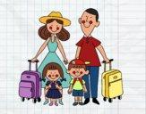 Una famiglia in vacanza