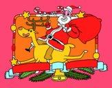 Babbo Natale e renna di Natale